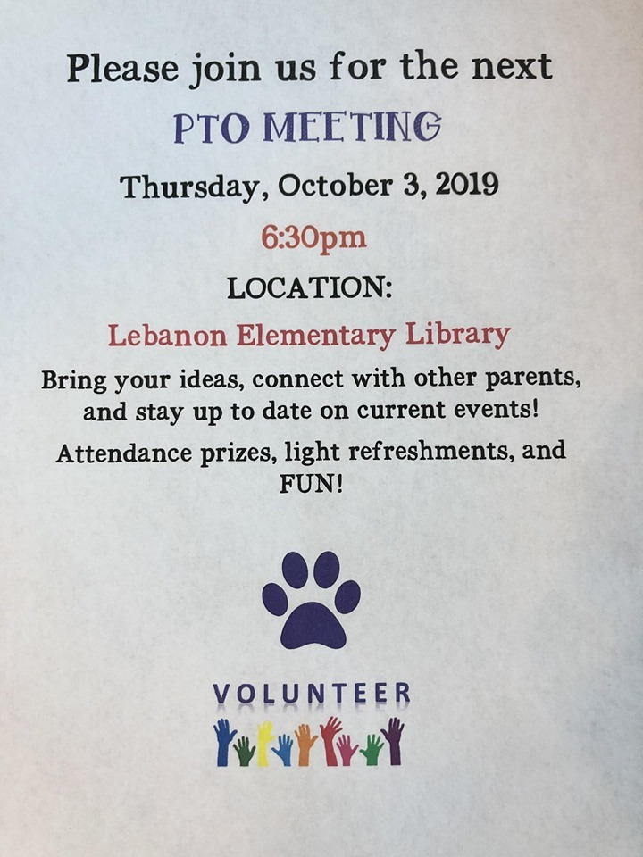 PLEASE JOIN US FOR PTO MEETING