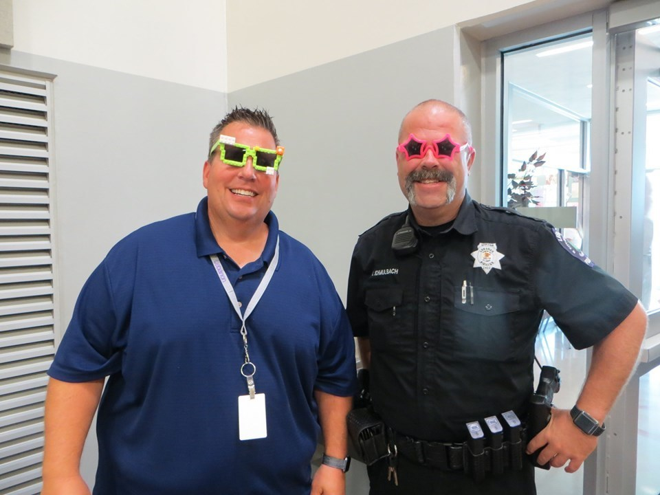 Superintendent Keeney and Officer Schmulbach