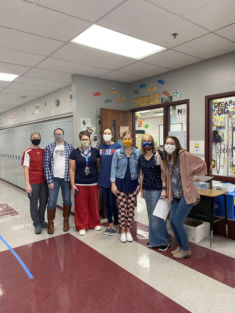 Junior High Teachers red white and blue day!
