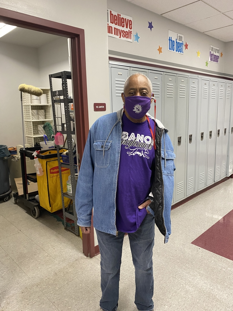 Mr. Walker in purple gear!