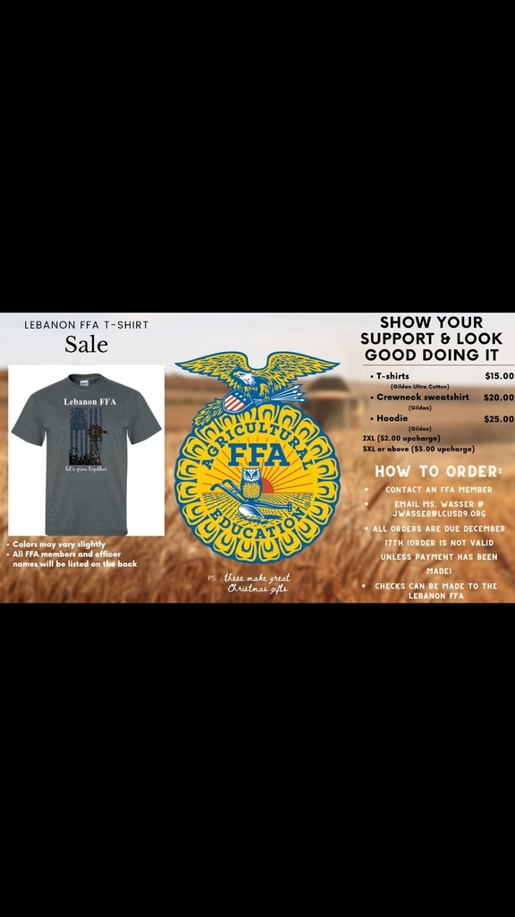 FFA shirts for sale.