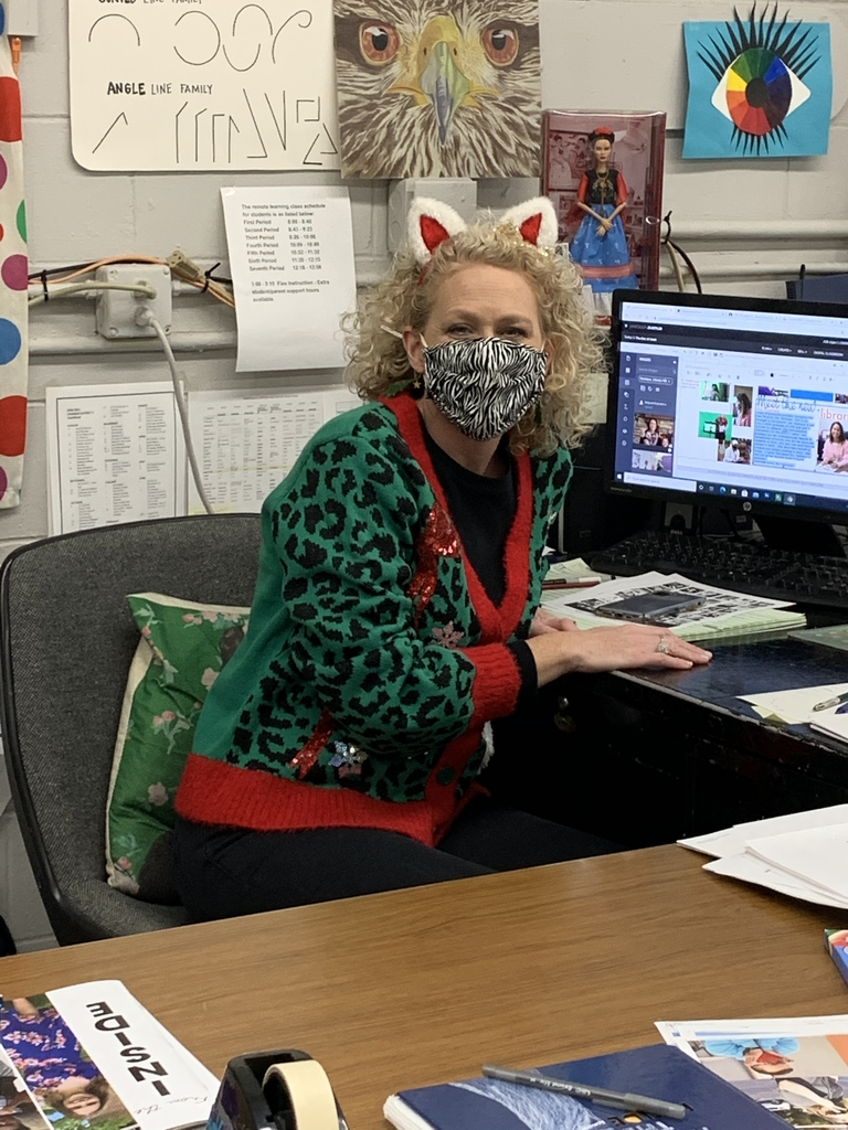 Mrs Kashycke sporting her best ugly sweater