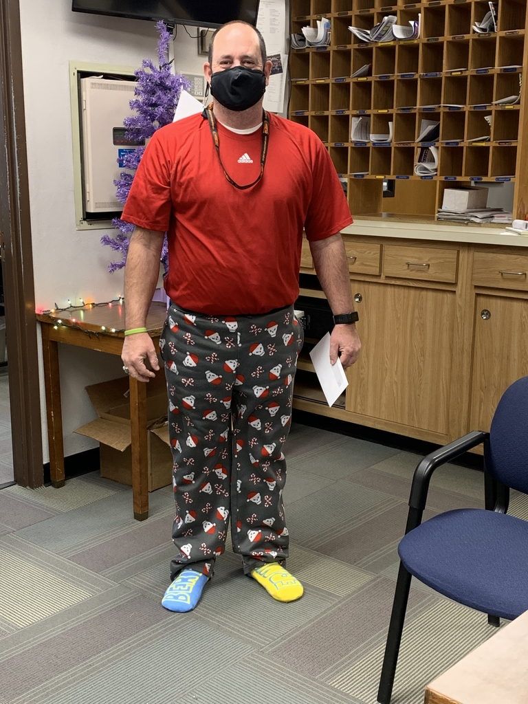 Mr Cruthis relaxing on PJ day
