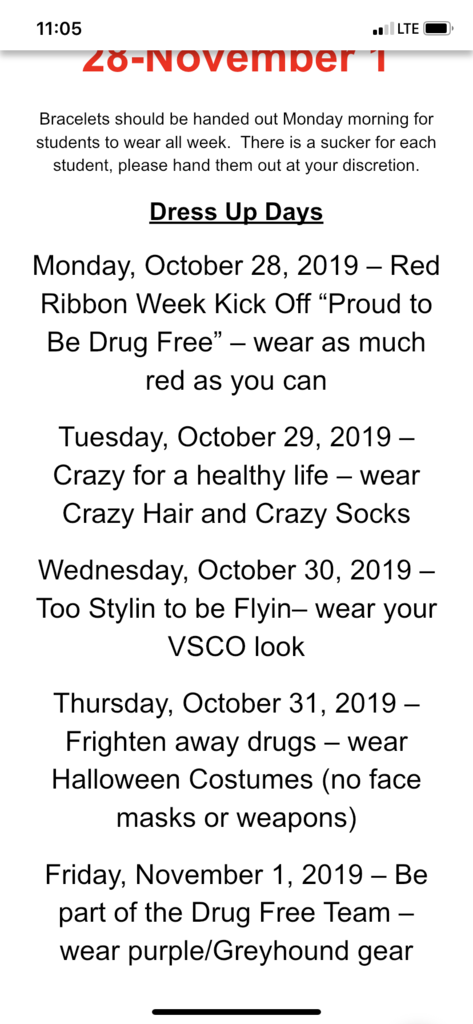 Red Ribbon Week Dress Days 2019