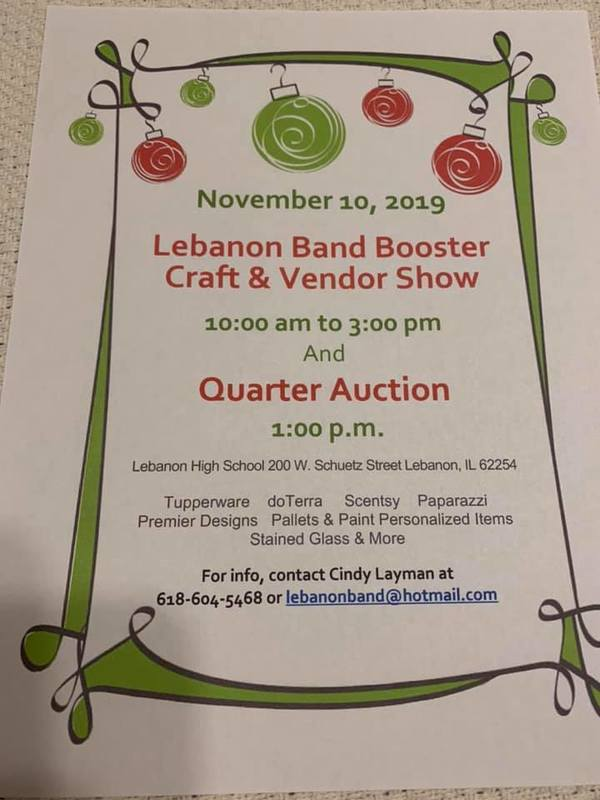 LEBANON BAND BOOSTERS CRAFT & VENDOR SHOW